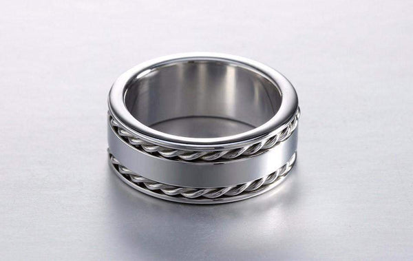 Hot Sale! Double Twist Chain Ring For Men