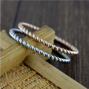 2018 Twisted Rope Wedding Ring Band