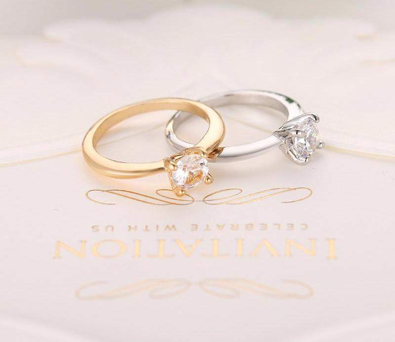 Best Selling Plan Crystal Classic Bridal Ring