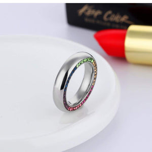 2018 Sparkling AAA+ Cubic Zirconia Engagement Ring Band