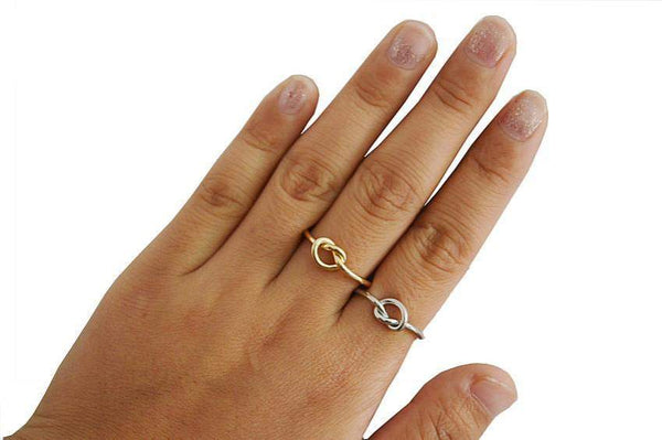 Best Selling Sophisticated Knotted Heart Infinity Ring