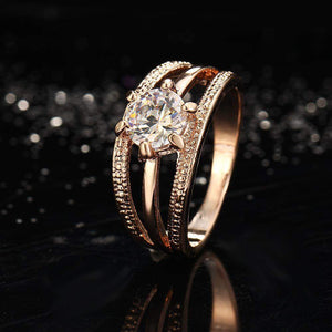 Best Selling Austrian Crystal Bague Wedding Ring Band