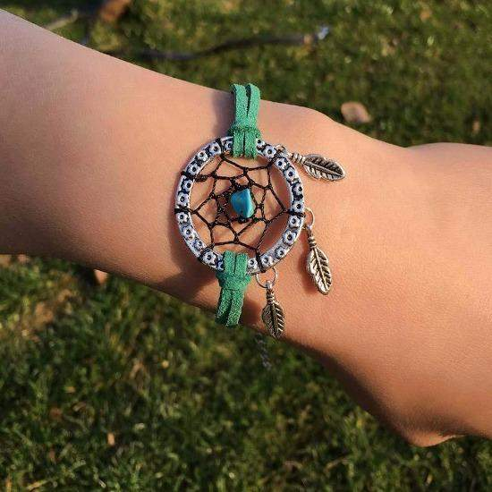 2021 Multicolor Hand-Made Mini Dream Catcher Bracelet