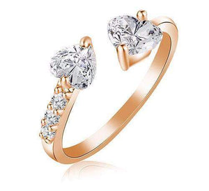 Top Rated Two Love Hearts Bridal Ring