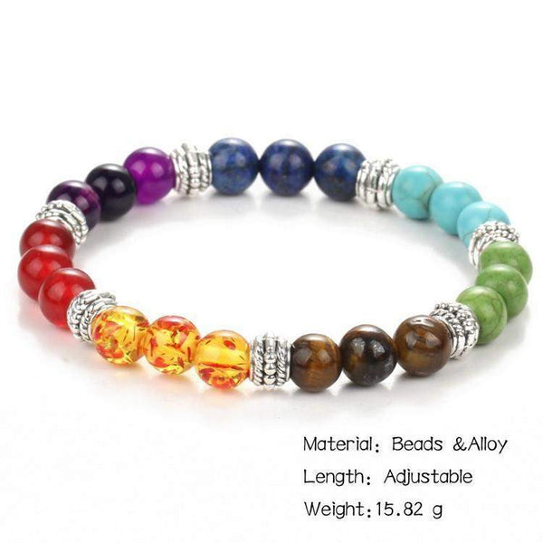 2018 Best Selling Natural  7 Chakra Healing Stone Beads For Men And Women