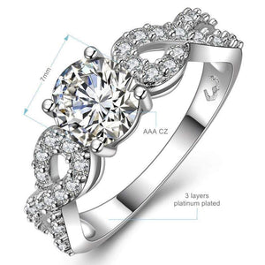 2018 Bridal's Choice - Vintage Round Zirconia Double Infinity Ring