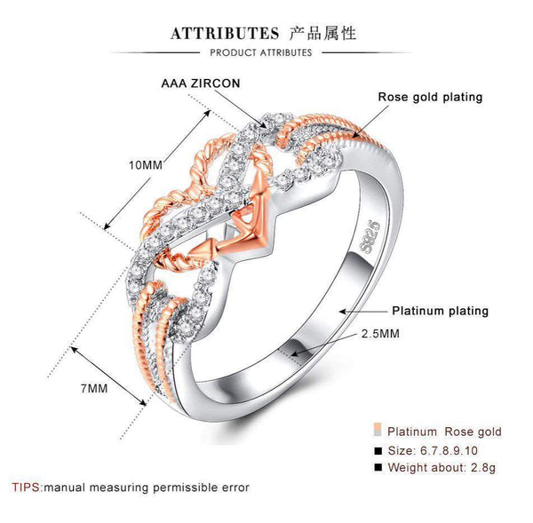 2018 Heart Infinity Rope Ring