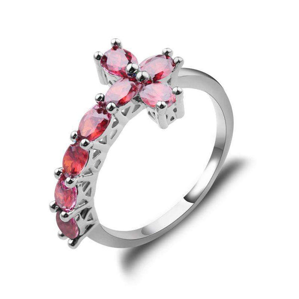 Hot Selling Rose Cross Wedding Ring Band