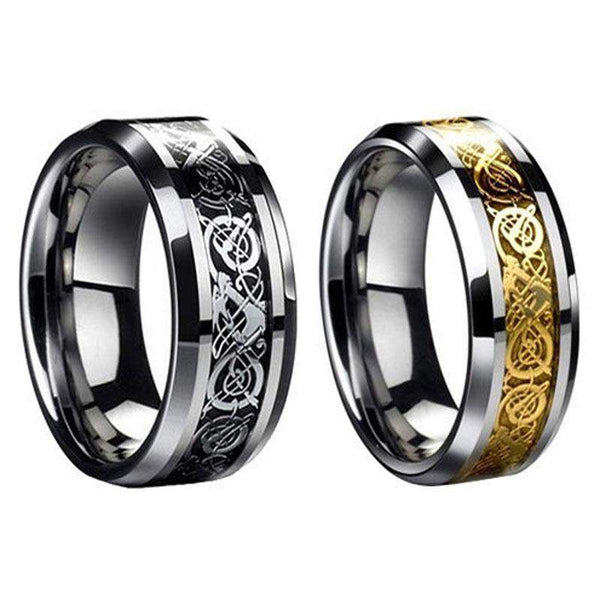 2018 Stylish Dragon Stainless Steel Ring For Men