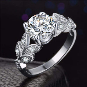 Top Rated Classic Crystal Flower Wedding Ring