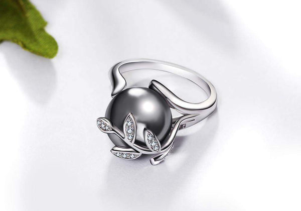 Best Selling Stylish Gray Pearl Statement Ring