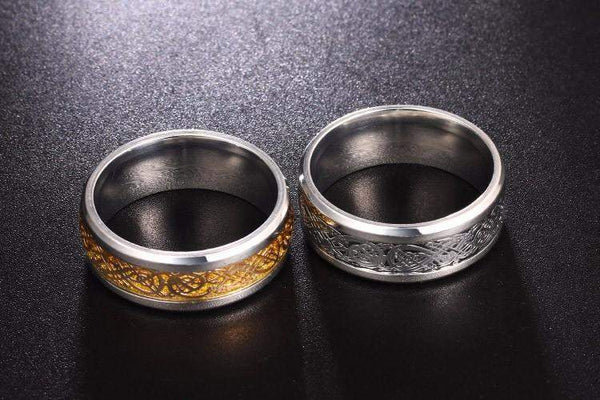 Top Rated Inlaid Pattern Stainless Steel Wedding Ring For Men And Women