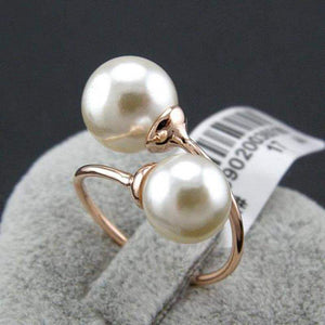 Top Rated Double Pearl Italina Love Ring