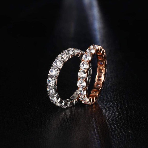 2018 Romantic Cube Crystal Engagement Ring