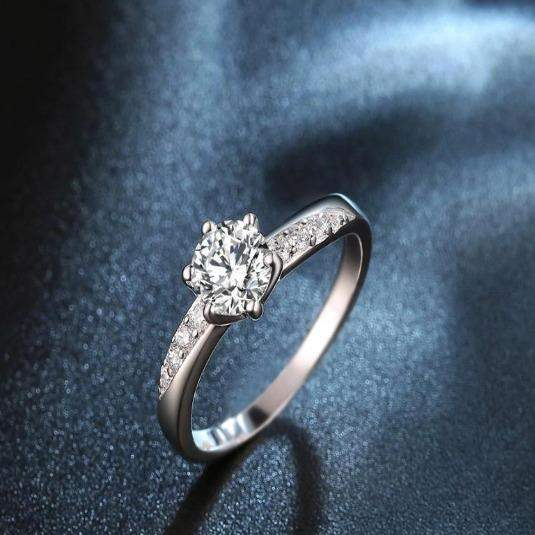 2018 Sophisticated Six Claws Rose Bridal Ring