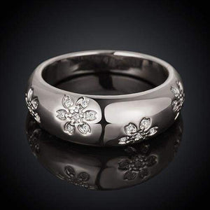 Best Selling Engraved Flowers Bridal Ring