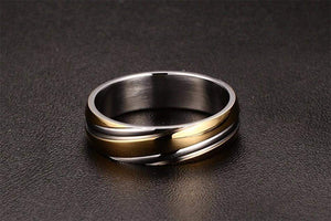 Top Selling Twisted Line Stainless Steel Ring For Men