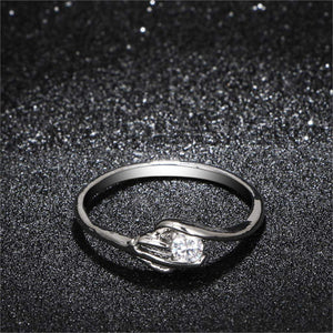 2018 Sophisticated AAA+ Cubic Zirconia Bridal Ring