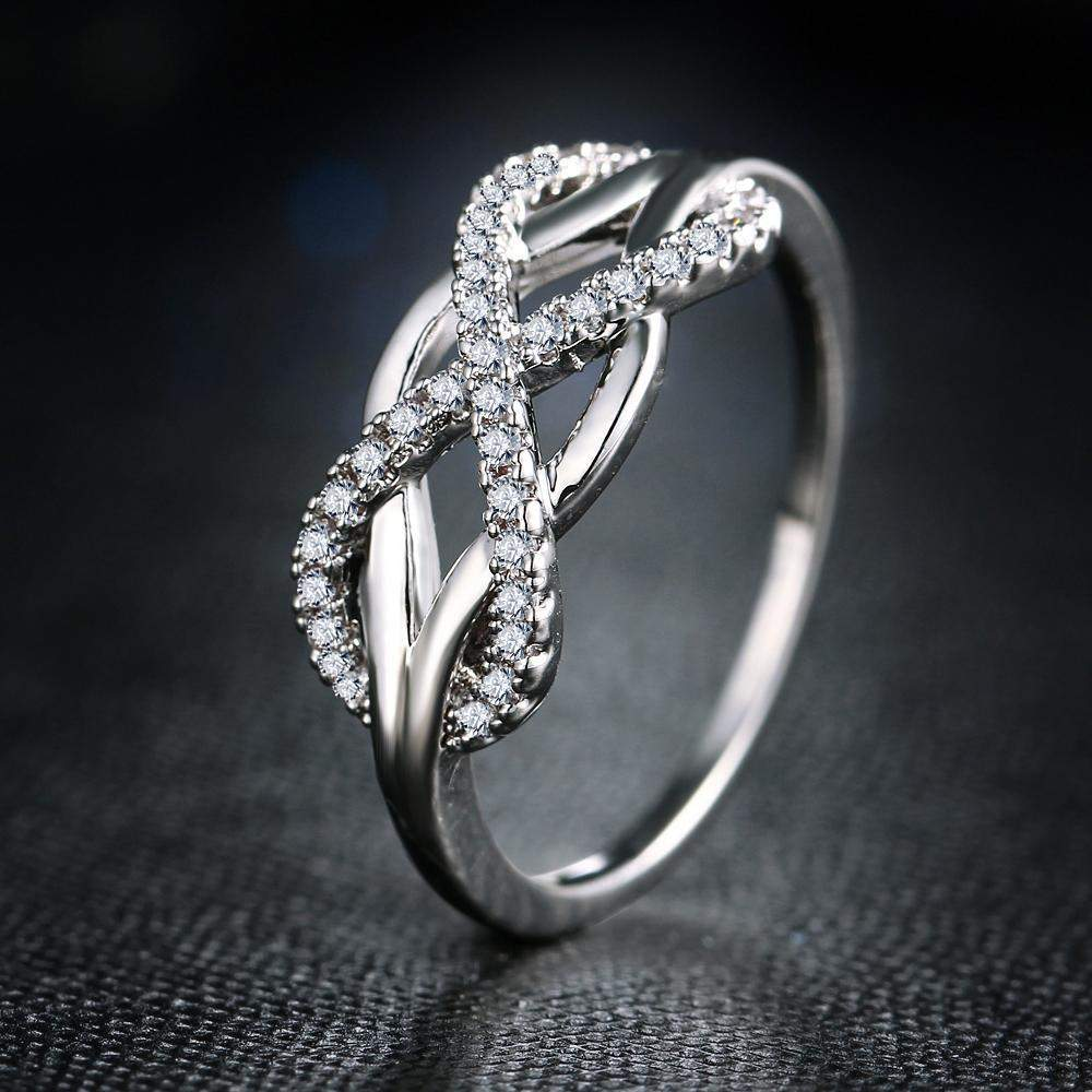 Top Rated AAA+ Cubic Zirconia Infinity Love Ring