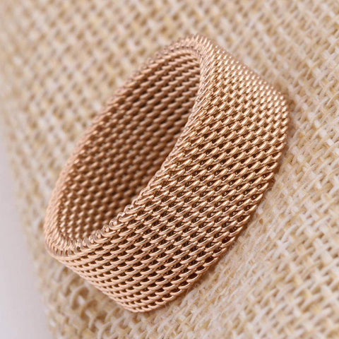 Top Rated Woven Mesh Wedding Ring For Men And Women