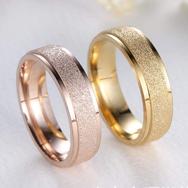 Hot Selling Frosted Wedding Ring Band For Men And Women