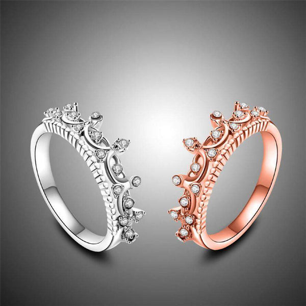 Top Rated Glamorous Princess Crown Bridal Ring