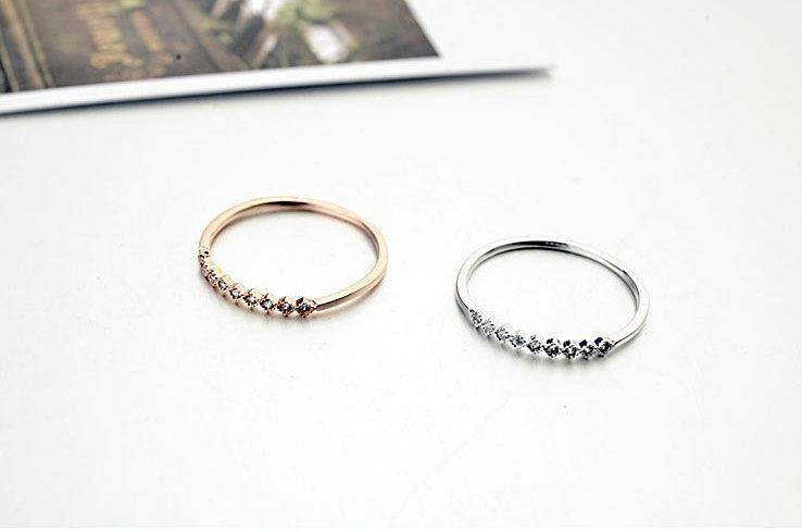 2018 Mini Zirconia Thin Engagement/Wedding Ring