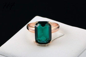 Most Wished Huge Square Crystal Wedding Ring