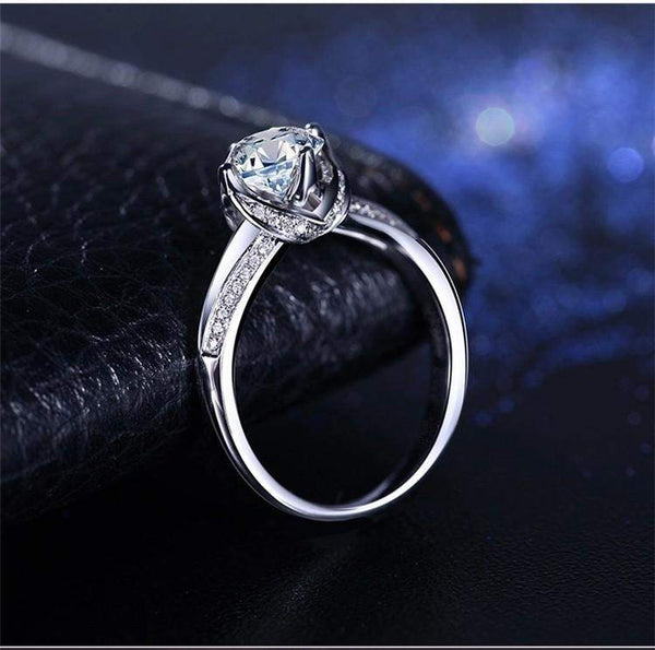 2018 Glamorous AAA+ Zircon Rose Bridal Ring
