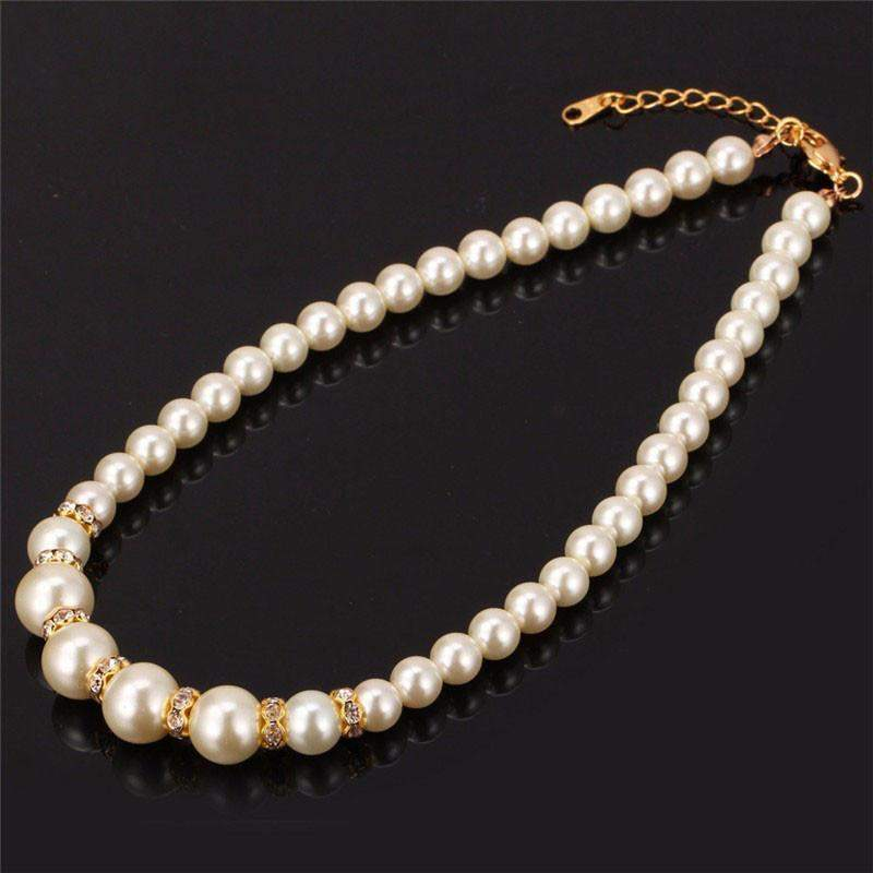 Top Quality Pearl With Real Austrian Rhinestone African Beads Bridal Gift Set