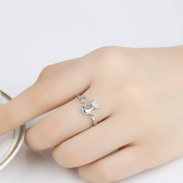 Best Selling Sophisticated Cat Shape Engagement Ring