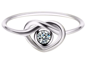 Top Rated Simple Heart Knot Infinity Ring