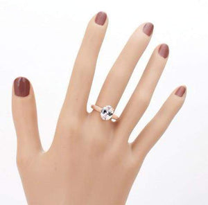 2018 Classic Four Claws Real Austrian Crystal Bridal Ring