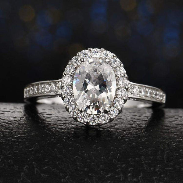 Top Rated Big Stone Crystal Love Ring