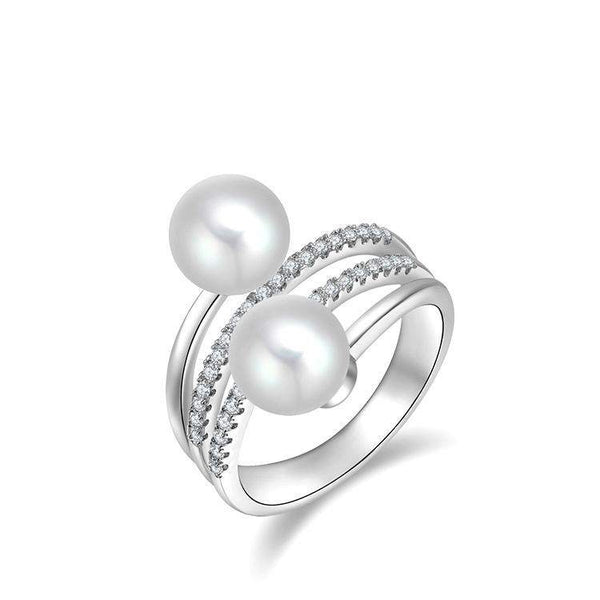 Best Selling Pure White Pearl Bridal Ring