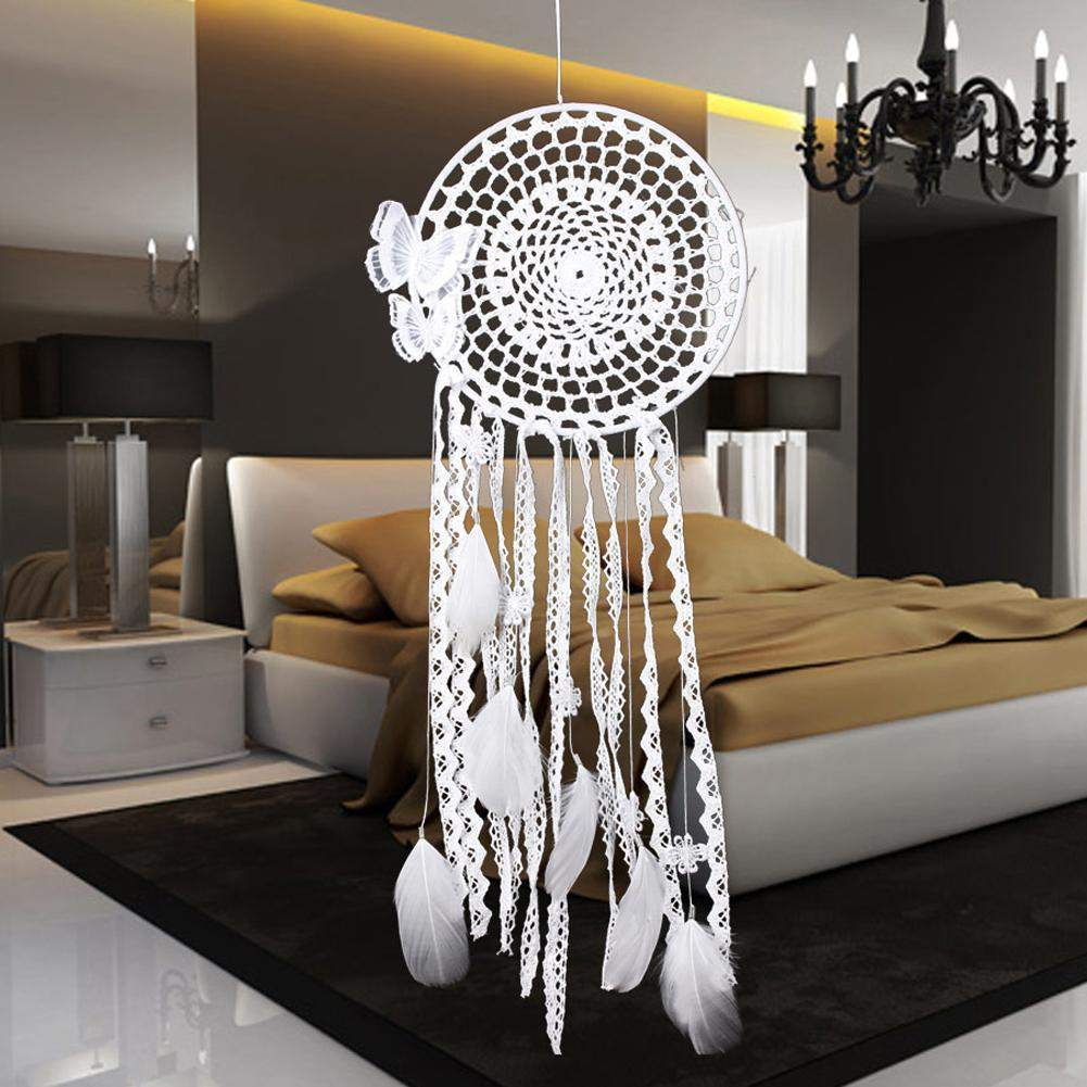 Most Sold Butterfly Feather Bead Dream Catcher Wind Chimes