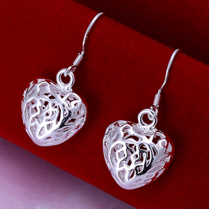 Free Jewelry - Heart Drop Vine Earrings - Clever Clad