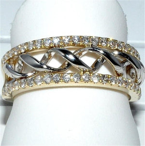 Wave Braided Lace Ring