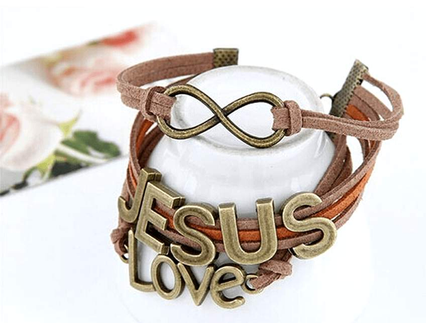 Free Jewelry - Vintage Multilayer JESUS LOVE Bracelet - Clever Clad