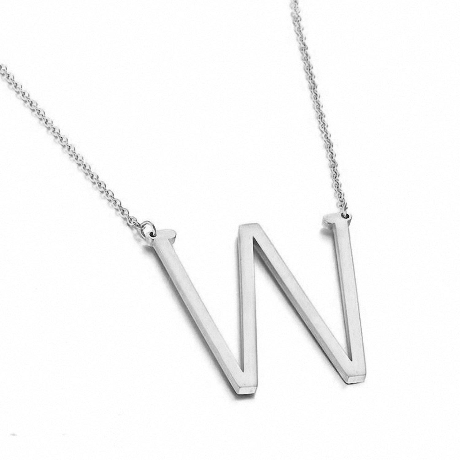 A-Z Letter Name Initial Big Letter Necklace