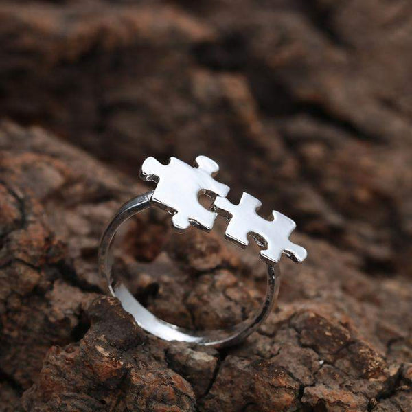 Top Selling Missing Puzzle Friendship / Lovers Ring