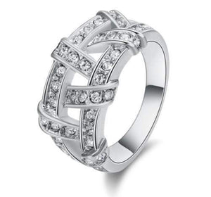 Top Rated Real Austrian Rhinestones Wedding Ring
