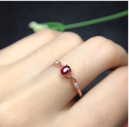 Colored Oval Zirconia Thin Bridal Ring