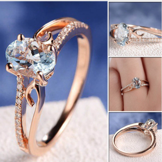 2018 Classy Real Austrian Crystal Engagement Ring