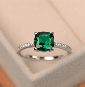 Chic Colored Cubic Zirconia Thin Wedding Ring