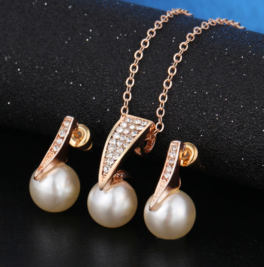 2018 Top Quality Pearl Bridal Jewelry Set