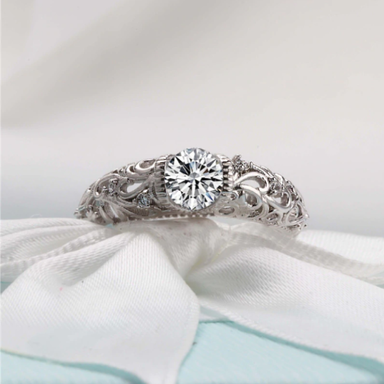 NEW RELEASE! Luxury Vintage AAA+ Zirconia Bridal Ring