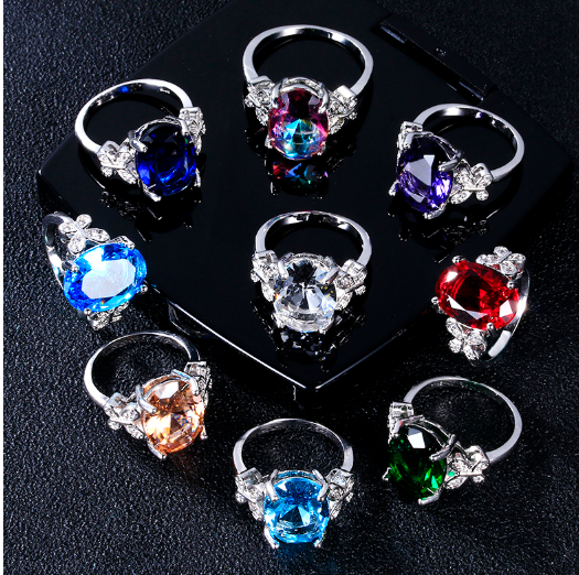NEW RELEASE! Fashionable Multi-Color Zirconia Wedding Ring Band