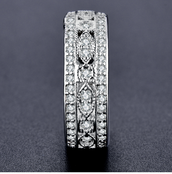 NEW RELEASE! Luxury AAA Zirconia Studded Engagement Ring
