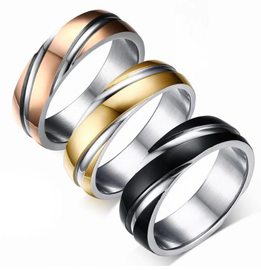 2018 Millennium Stainless Steel Wedding Ring Band For Men